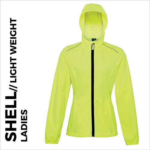 Ultra light softshell athletics jacket, front view