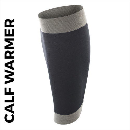 custom printed calf warmer - black