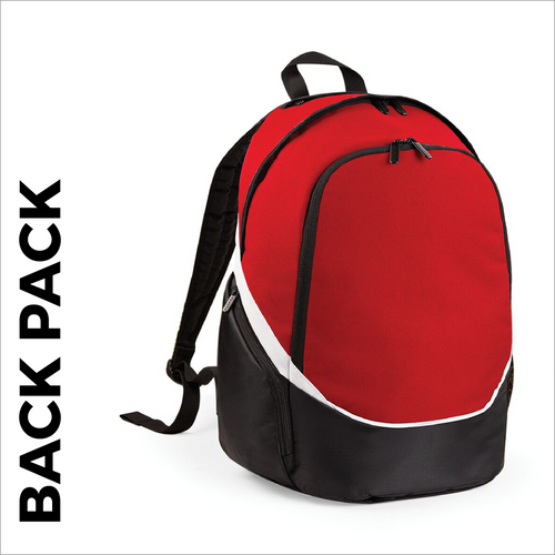 Red team wear backpack