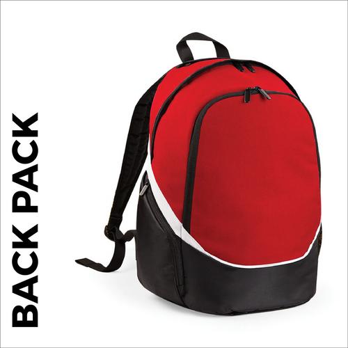 custom printed Red team wear backpack