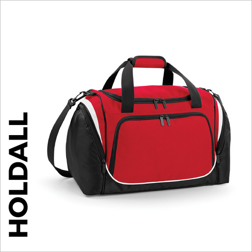 custom printed Red team wear holdall