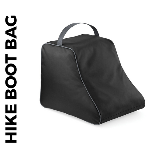 Black walking boot bag