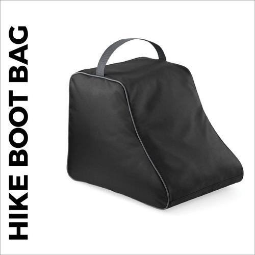 custom printed Black walking boot bag
