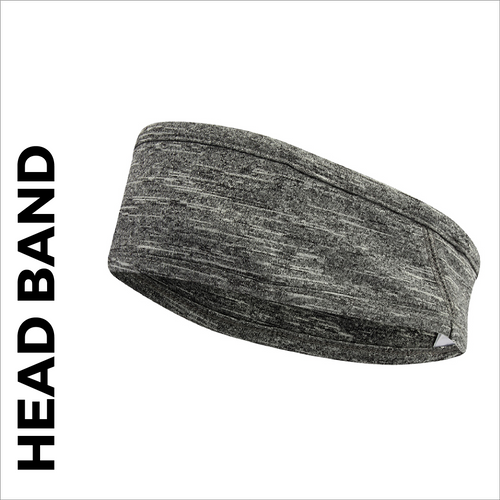 custom printed Head Band in grey marl