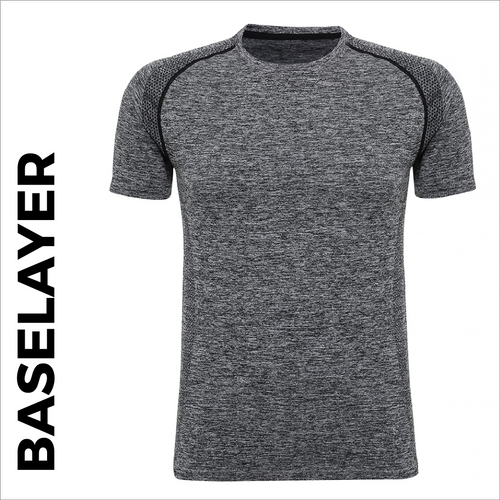custom printed Charcoal Short Sleeve Baselayer