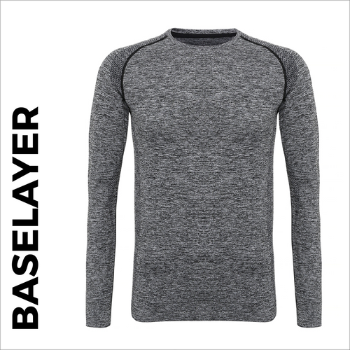 Custom printed Charcoal Long Sleeve Baselayer