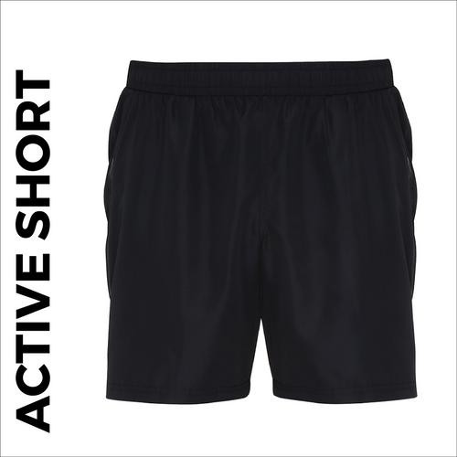 custom printed Black Active shorts