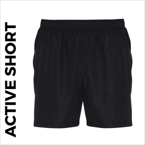 custom printed Black Active shorts