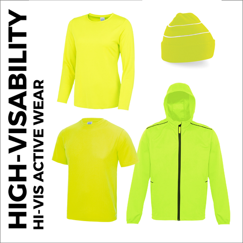 High Visibility range of active wear