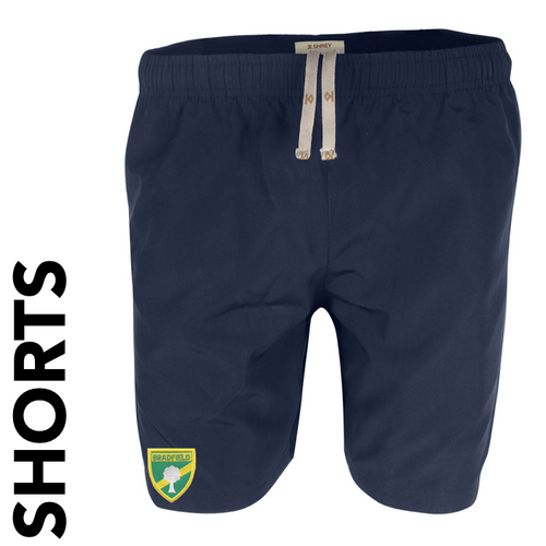 Bradfield CC shorts with club badge