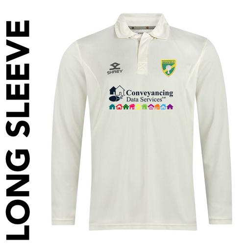 Bradfield CC long sleeve cricket shirt with club badge