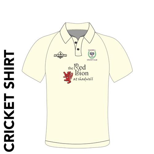 Shadwell CC cricket shirt with club badge