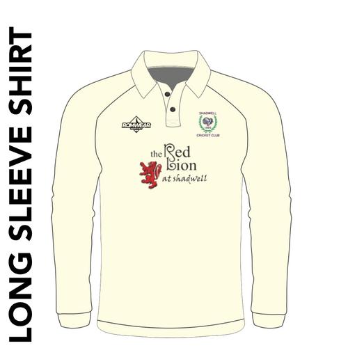 Shadwell CC long sleeve cricket shirt with club badge