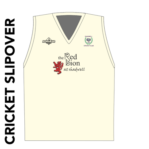 Shadwell CC cricket slipover with club badge