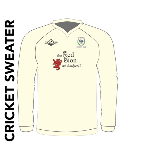 Shadwell CC cricket sweater with club badge