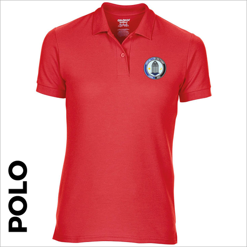 Polo T-Shirt. Red colour ring spun cotton fabric in a double pique knit for breathability and strength.