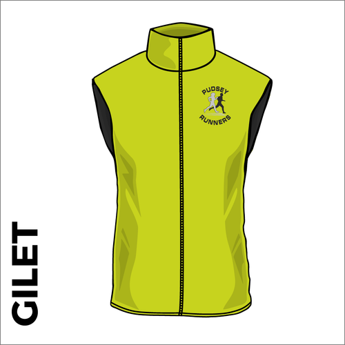 Gilet with printed club logo on front