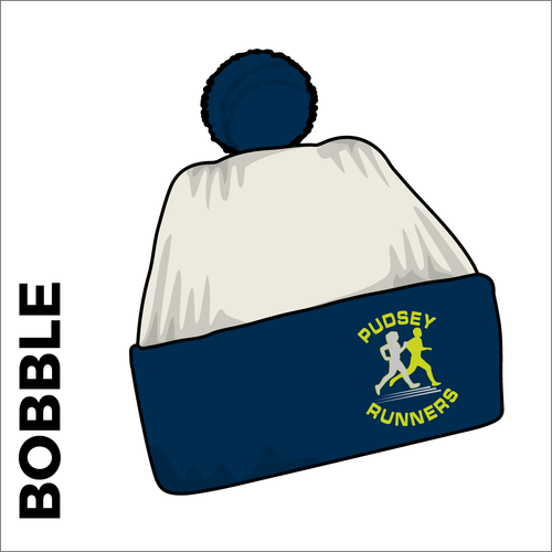 Bobble Hat with contrast navy bobble and cuff