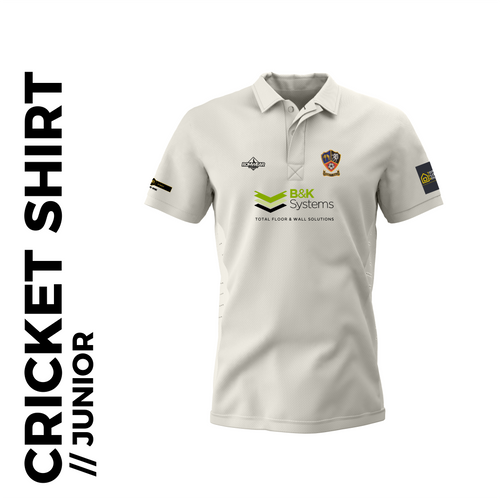 Ossett CC junior cricket shirt with embroidered club badge
