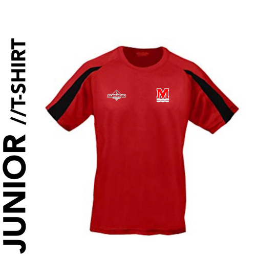 Monifieth Swim Club - T - Shirt (Red/Black) - Junior