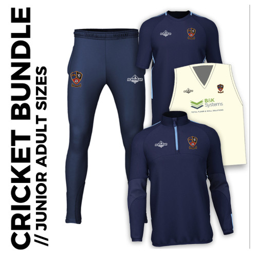 Ossett CC cricket junior bundle - adult sizes