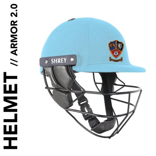 Ossett CC Shrey Helmet Armor 2.0 with club badge