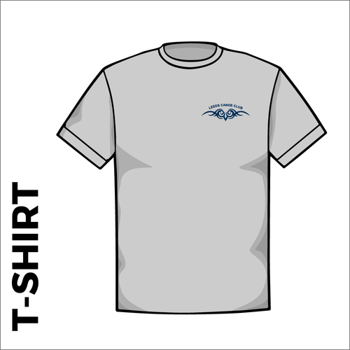 Grey T-Shirt, Cotton with embroidered chest logo