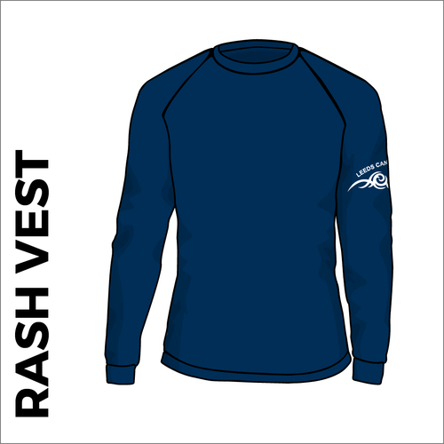 Navy long sleeve rash vest front