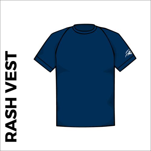 Navy short sleeve rash vest front