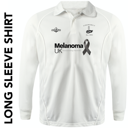 Langwith CC long sleeve cricket shirt with club badge