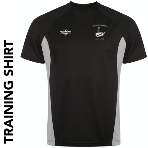 Langwith CC training shirt with club badge