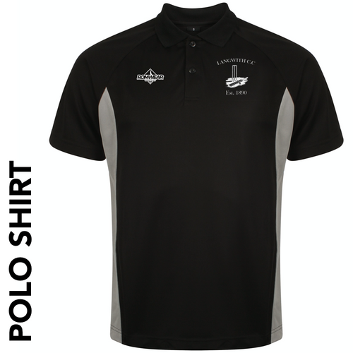 Langwith CC polo shirt with club badge