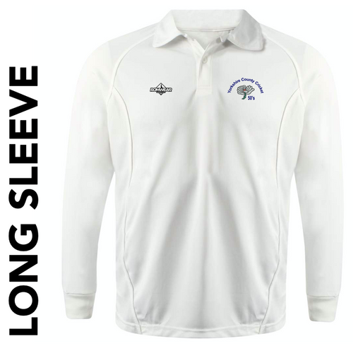 Yorkshire 50's CC long sleeve cricket shirt with club badge