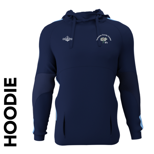 Yorkshire 50's CC hoodie with club badge
