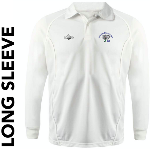 Yorkshire 60's CC long sleeve cricket shirt with club badge