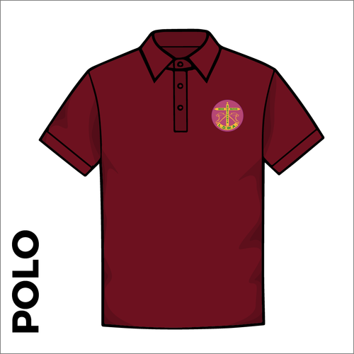 Polo T-Shirt. Maroon colour ring spun cotton fabric in a double pique knit for breathability and strength.