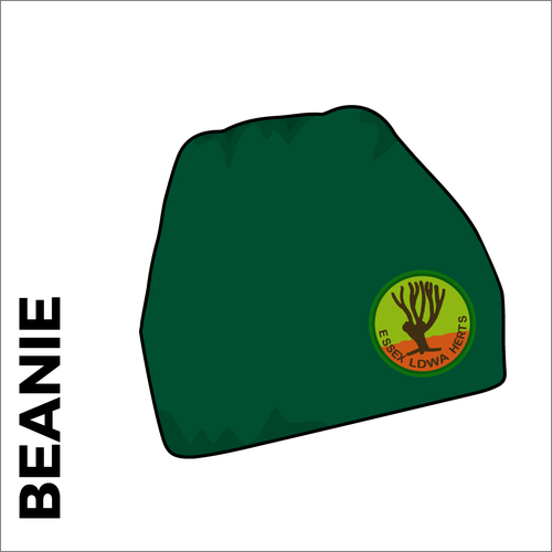 Bottle green beanie with embroidered club crest on the front.