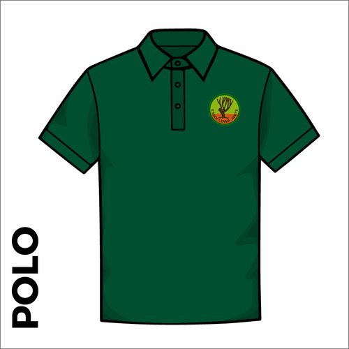 Polo Shirt. Bottle green colour ring spun cotton fabric in a double pique knit for breathability and strength.