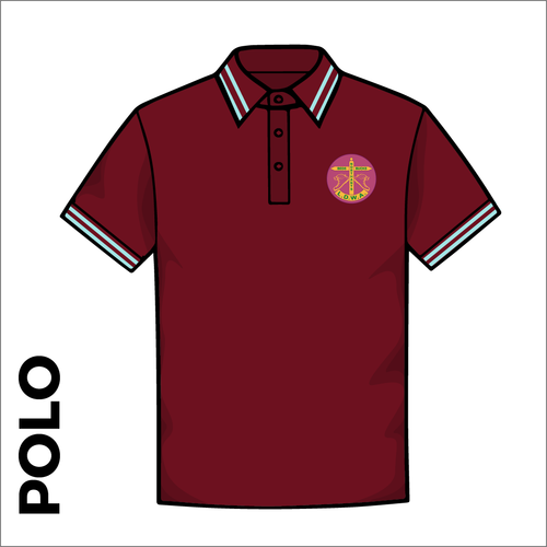 Polo tipped T-Shirt. Maroon colour ring spun cotton fabric in a double pique knit for breathability and strength.