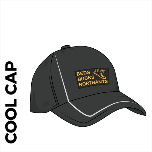 Cool cap with heat applied club text