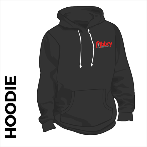 hoodie with embroidered logo on chest