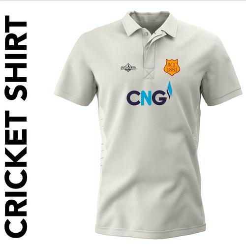 Bilton CC short sleeve cricket shirt with club badge