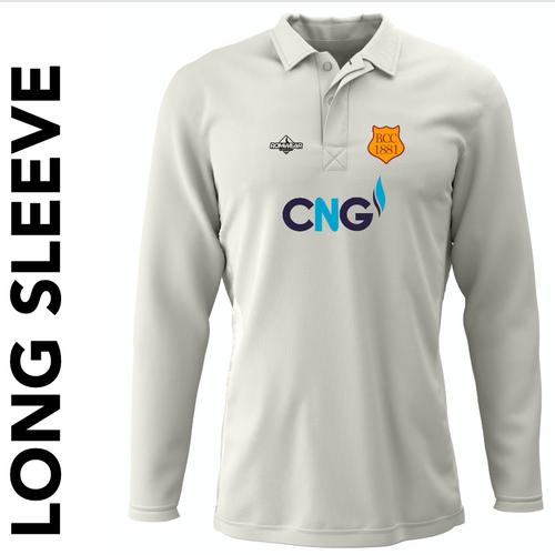 Bilton CC long sleeve cricket shirt with club badge