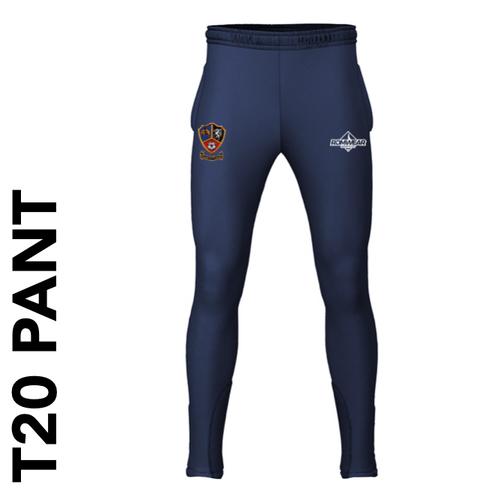Ossett CC T20 cricket pants with club badge
