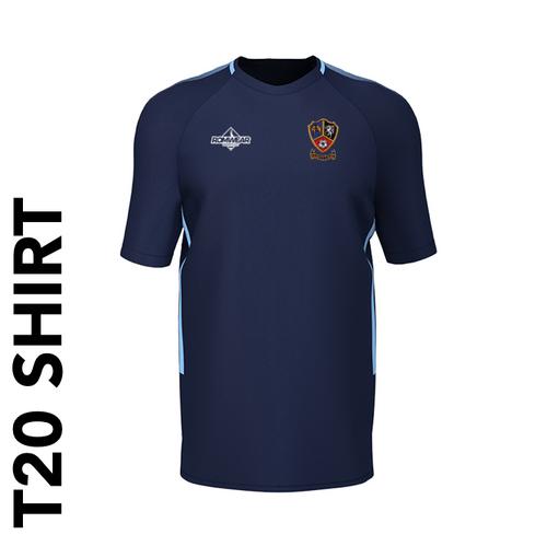 Ossett CC T20 Cricket shirt with club badge