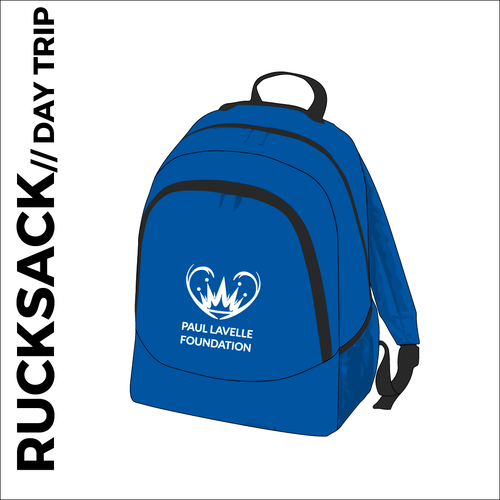 backpack, with club logo on the front pocket.