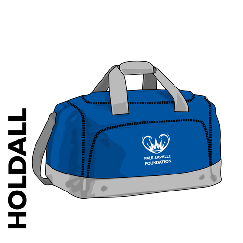 Royal holdall with club logo on front pocket