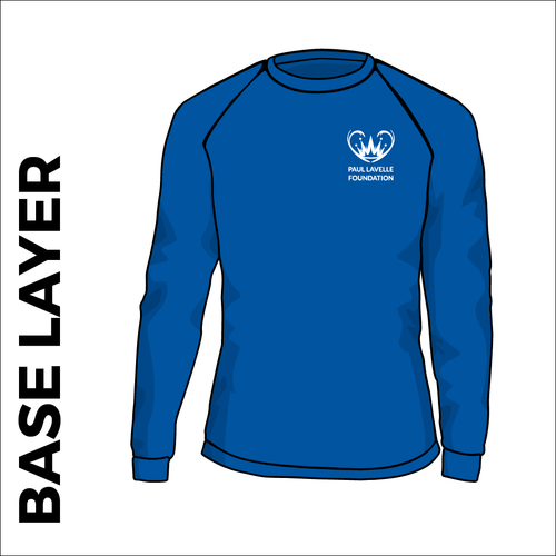 Royal base layer, front view with club badge on chest