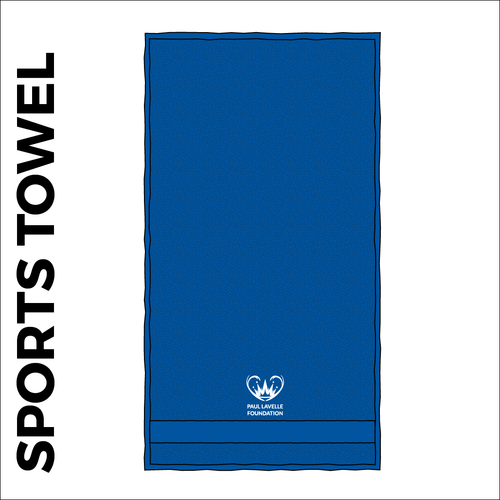 Sport towel with embroidered club crest on the front.