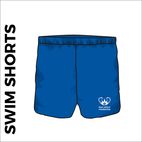 Swim shorts with embroidered club badge on left leg.